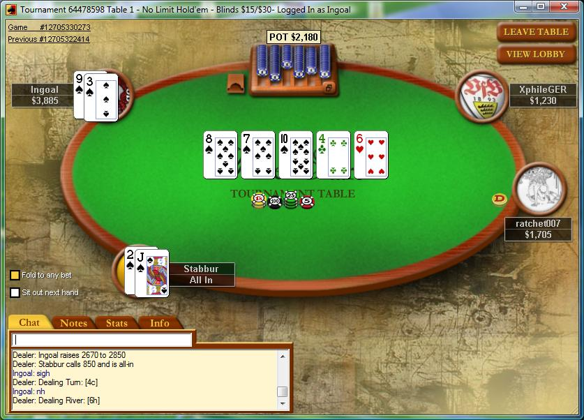 flopped flush four handed no g00t