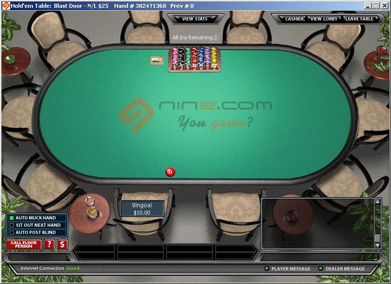 nine poker UI